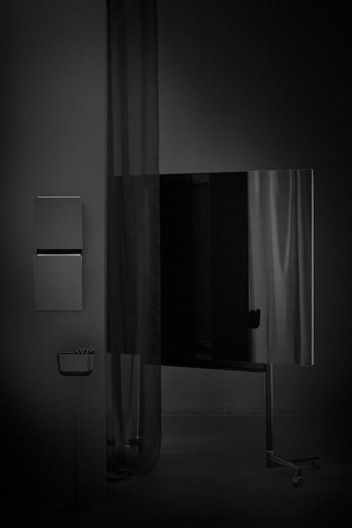 CHAT BOARD Move Large Black + Magazine Rack Black + Storage Unit Black