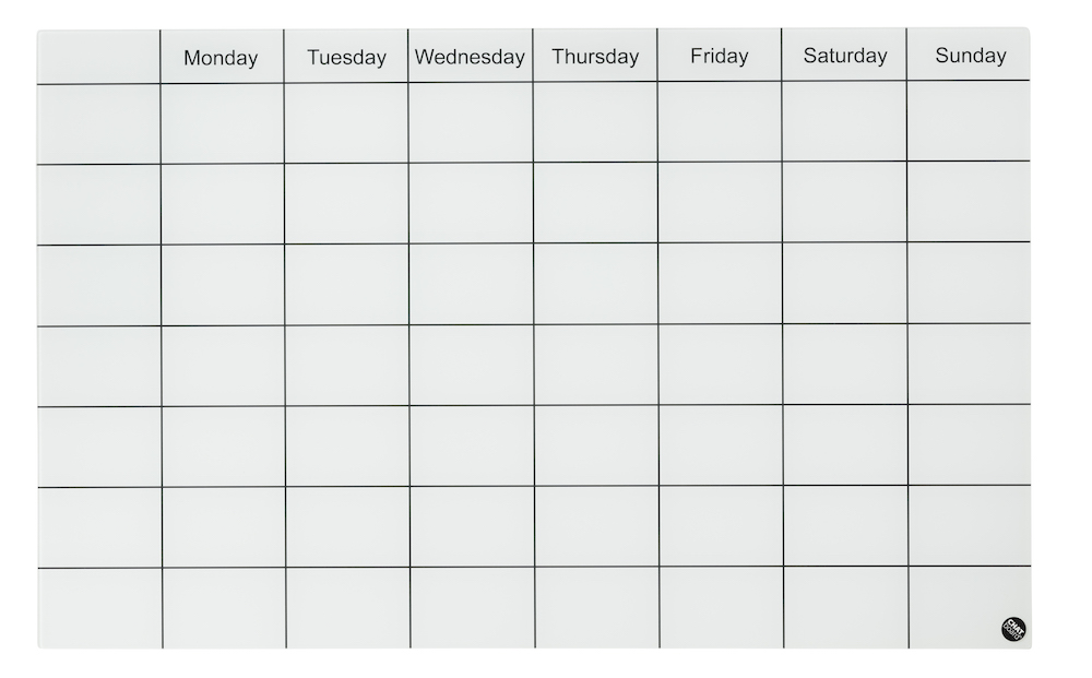 CHAT BOARD_Week Planner_Pure White_freestanding